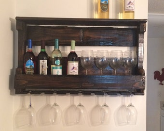Wooden Wine Rack & Shelf