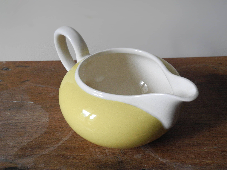 French milk jug/pot Villeroy et Boch Biarritz pastel yellow ...