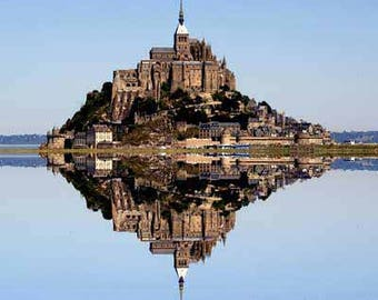 Mont Saint-Michel - Large Abstract Wall Art Canvas Photographic Architecture