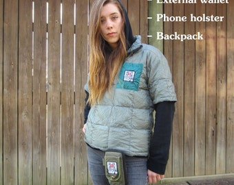 Max-Pax - external wallet, phone holster, and backpack