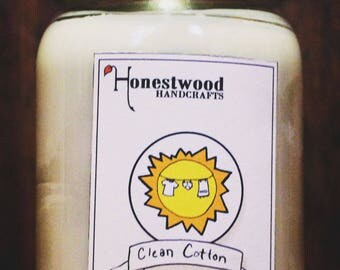 Clean Cotton - Soy Candle (1 Pint)