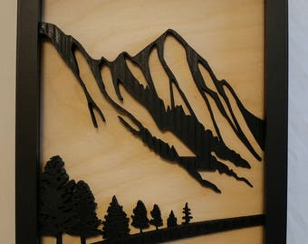 3D Printed Mountain and Forest Picture