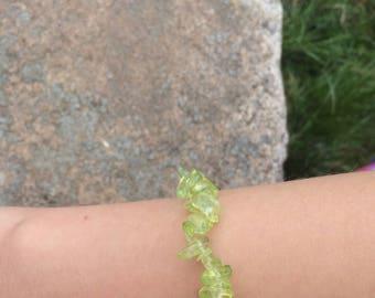 Green Rock Bead Bracelet