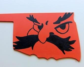 Oklahoma State University-State Cutout Board