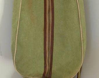 Vintage LEYLAND GOLF bag made in Scotland Leather Canvas British Goudie MILHOLM