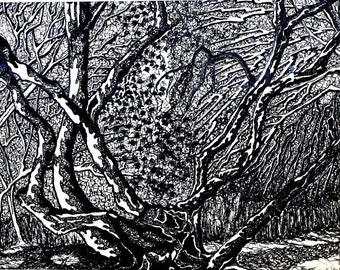 Painting Trees Original landscape