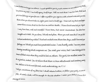 Jane Austen Square Pillow ― Excerpt from Persuasion