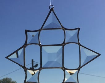 Beveled Star, Stained glass bevels create this stunning suncatcher