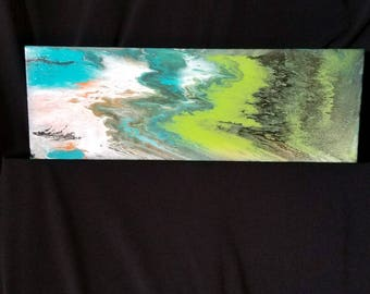 "Original Artwork ""Shoreline"" 4"" x 12"" painting"