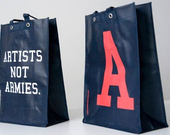 Artists Not Armies Tote Number One
