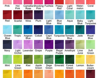 Ribbon Color Options
