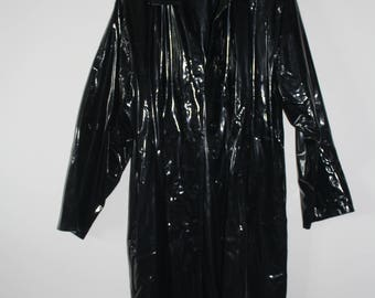 Vintage Rubber Trench Coat