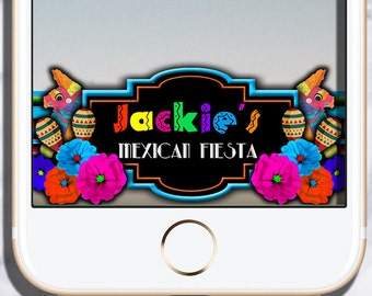 Custom Mexican Fiesta Snapchat Geofilter