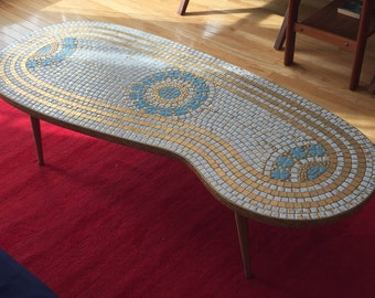 Unique Mosaic Coffee Table. Mid-Century Modern