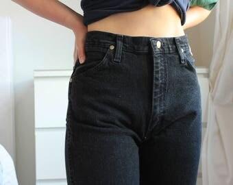 Vintage Wrangler Black High Waisted Women's Jeans 90s Denim small W26