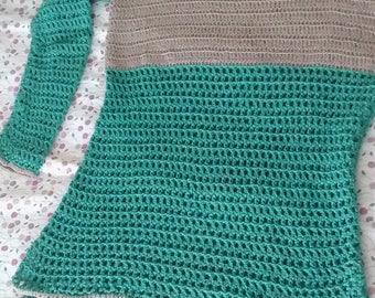 Body 100% cotton handmade sweater (crochet) size M/L