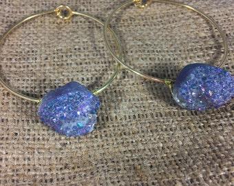 Gold Aura Druzy Bracelet