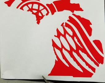 Michigan/Red Wings decal