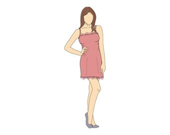 Strappy Simple Slip Dress Sewing Pattern - Sizes 8-22 UK - Download PDF