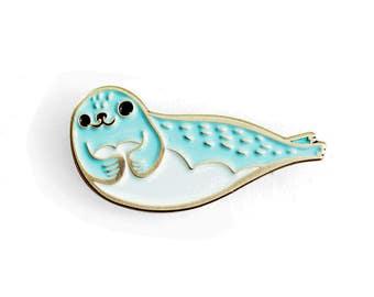 Enamel Pin SEAL PIN cute enamel pin - cute lapel pin - cloisonné pin - animal pin animal enamel pin - seal enamel pin sea lion pin cute pin