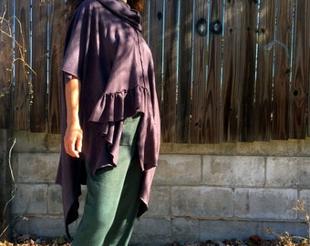 Freedom in Motion tunic in Organic Hemp Jersey. Ready to ship. One size small-large in color MINK. Organic clothing.