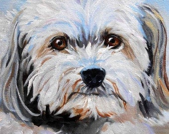 Pet Oil Painting on Canvas, hand painted original by dog artist Robin Zebley