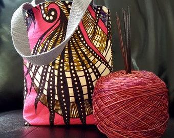 Pink Tentacles Knitting Bag / Tote Bag