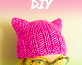 pink power pussyhat yarn kit & pattern DIY / hand dyed yarn / superwash merino wool / bulky weight yarn / choose your shade / NONPROFIT