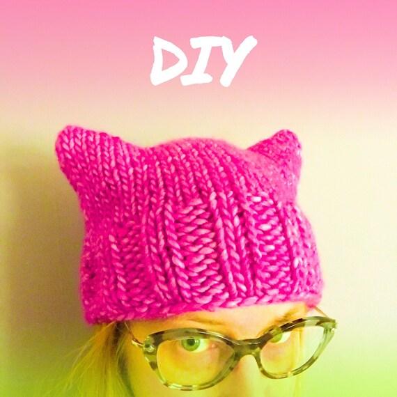 PUSSYHAT pink power yarn kit & pattern DIY