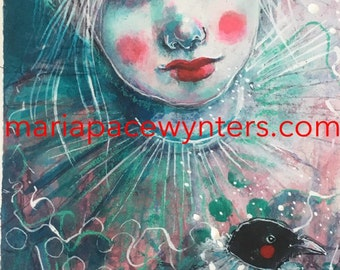 Dreams Take Flight- Original mixed media painting by Maria Pace-Wynters
