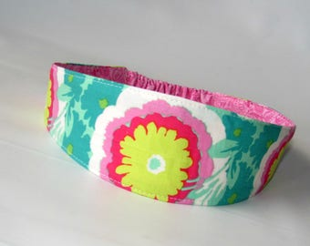 Adult Fabric headband, Yoga  women Headband, Reversible Fabric Headband for womens, Women Hairband, Hair Fashion Accessories, Buttercups