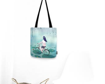 Fireflies by night and bicycle - Tote bag