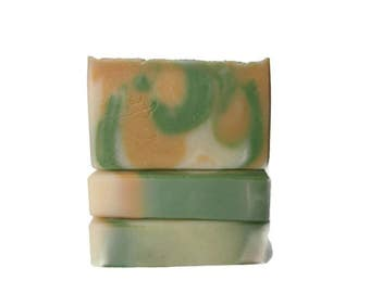 Pineapple Cilantro Soap - Handmade Olive Oil Soap Artisan Soap - Limited Edition Summer Fragrance - Tropical Scent - Body Soap - Vegan Soap