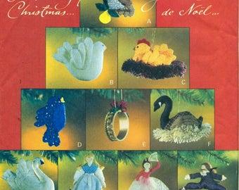 Vogue 8769 12 DAYS Of CHRISTMAS ORNAMENTS Vintage Holiday Teresa Layman Designs ©1993 Vogue Craft