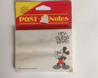 Vintage Disney Post IT Notes Mickey Mouse