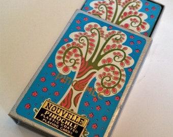 Nouveau Deck of Playing Cards Nouvelle TREE Pinochle Deck Vintage Cards Art Deco Style