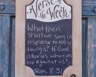 Farmhouse Verse of the Week Chalkboard - Scripture Memory - Bible Verse