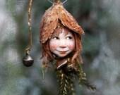 Pixie girl Luna handmade decoration, Zapfenkind