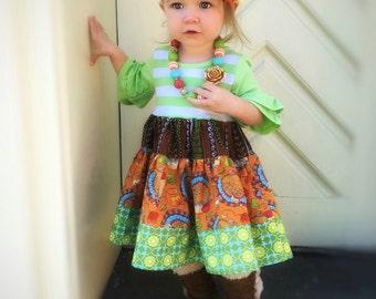 Thanksgiving Turkey dress Momi boutique custom dress