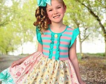 Easter dress Peter Rabbit dress Momi boutique custom girls dress