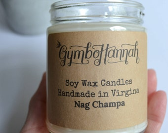 NAG CHAMPA Soy Candle Soy Candles Housewarming gift Incense