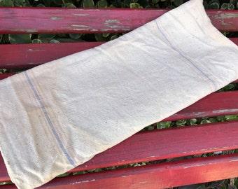 Vintage Striped Hemp Bag Feedsack/Grain Sack Feed Sack