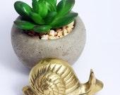 Snail Paperweight - Small Vintage Brass Figurine
