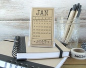 Mini Calendar with Stand 2017 Desk Calendar Gift for Women Coworker Gift Hostess Gift Gift for Mom Best Friend Gift