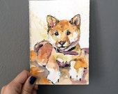 Such Doge Much Watercolor Wow - Shiba Inu Art - Dog Painting - Watercolor Shiba Inu - Doge Meme Art by Jen Tracy - Meme Master