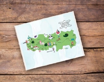 Customized Wedding Map Sample  (St. Simon's)