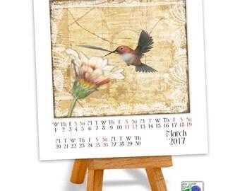 Printable Calendar 2017 - ON SALE - Nature Journal - Printable Calendar - Art Calendar - Desk Calendar - Desk Calendar 2017