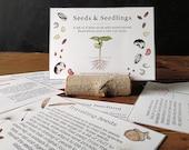 Seeds and Seedlings - Cards - Digital - Printable PDF, Montessori, Educational, Natural History, Botany, Plants, Nature Study