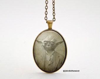 Yoda Necklace, Star Wars Necklace, Star Wars,Yoda, Yoda Charm, Yoda Gift, Star Wars Gift, Star Wars Pendant, Jedi Necklace, Star Wars Fan
