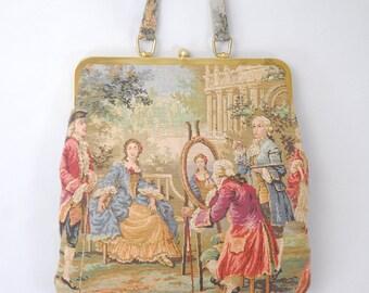 Pastimes victorian tapestry handbag | 1960s tapestry handbag | 60s handbag